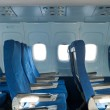 Chairs in the plane — Stock Photo