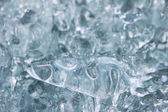 Ice texture from fresh water — Stock Photo
