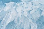 Fine background from an ice structure in Baikal — Stock Photo