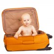 The small child in suitcase for long trips. — Stock Photo #36358319