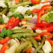 Big dish with vegetables for dinner — Foto de Stock
