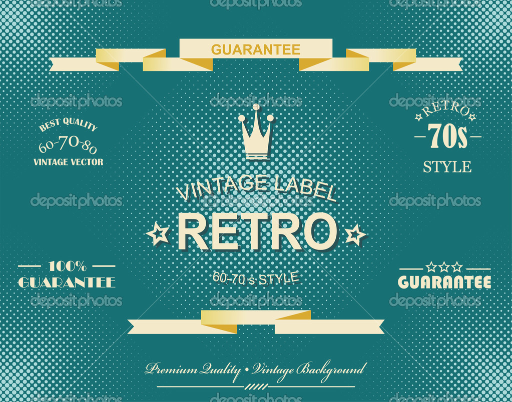 Premium Quality and Satisfaction Guarantee Label on Vintage Background — Stock Vector #12707906