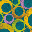 Retro circle pattern background - Stockfoto
