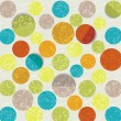 Retro circle pattern background - Vettoriali Stock 