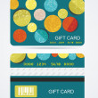 Collection of gift cards with circles. Vector background — Imagen vectorial