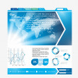 Web page layout design - Stock Vector