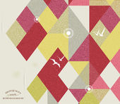 Retro tło geometryczne z ptaków — Wektor stockowy