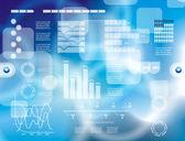 Fondo de moderna tecnología virtual — Vector de stock