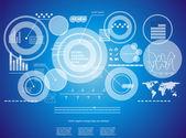 Fond moderne technologie virtuelle — Vecteur
