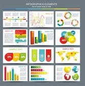 详细信息图表矢量插画。世界地图和信息 — 图库矢量图片