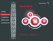 Web Design multimedia GUI elements set. — Stock Vector