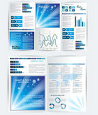Elegant business brochure design — Stock Vector