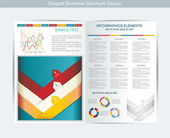 Elegant business brochure design — Stock Vector