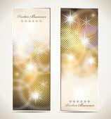 Tarjetas de felicitación con estrellas y espacio de copia. — Vector de stock