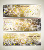 Greeting cards with an ice pattern and copy space. — Cтоковый вектор