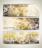 Cartões com um espaço de padrão e cópia de gelo. — Vetorial Stock