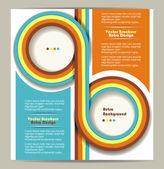 Brožura design s výstřední retro pozadí — Stock vektor