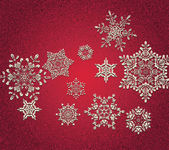 Abstract 3D Snowflakes Design — Vector de stock
