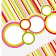 Stock Vector: Abstract colored background with circles.