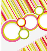 Abstract colored background with circles. — Stock Vector