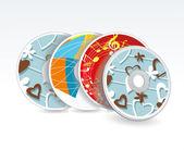 Set of vector cd cover design template design. — Stock Vector