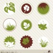 Ecology icon set - Stock vektor