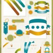 Set of retro ribbons and labels. Vector illustration — Stock Vector