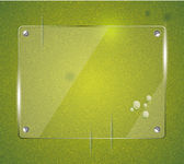 Green grass natural background with glass — Vecteur