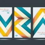 Mostrar el diseño de productos promocionales de la cinta colorida, vector illustr — Vector de stock