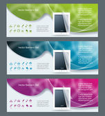 Collection banner design tablet pc computer — Stock Vector