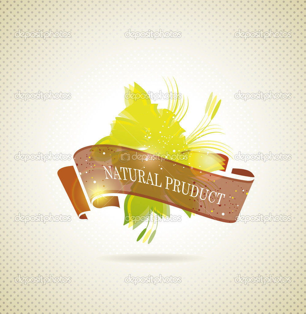 Natural product icon vector  — Stock Vector #18592745