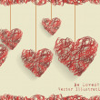 Valentine day doodle hearts - Stock Vector
