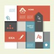 Modern Design template. Graphic or website layout vector. — Stock Vector