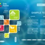 Corporate Website template. Creative Multifunctional Media desig — Stock Vector