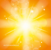 Sun Beams with Orange Yellow Blurred — Stock Vector