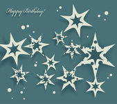 Elegant Birthday Card with stars — Stock Vector