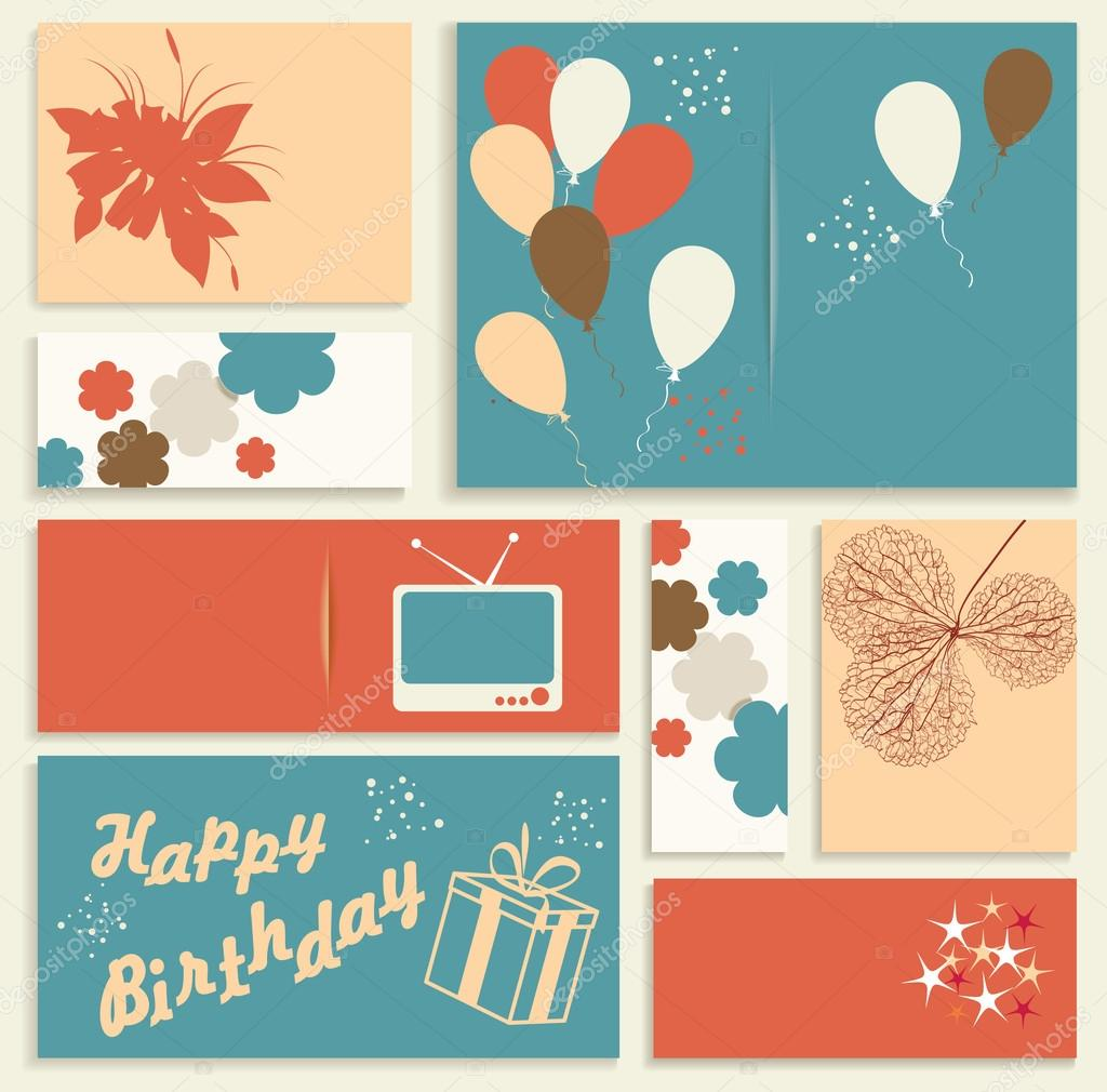 Birthday Cards Vector ~ Illustration for happy birthday card vector stock � success er