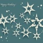Elegant Birthday Card with stars — Stock Vector