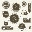 Set of vintage retro premium quality badges and labels — Stock Vector