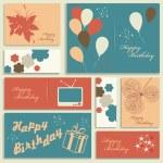 Illustration for happy birthday card. — Stock Vector
