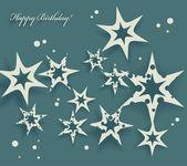 Elegante verjaardagskaart met sterren — Stockvector