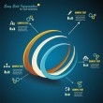 Vector 3d Symbol, business communication, network technology — Stock Vector
