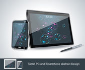 Set of vector blank generic tablet pc and smartphones. — Stockvector