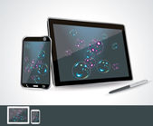 Set of vector blank generic tablet pc and smartphones. — Vecteur