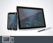 Set van vector leeg generieke tablet pc en smartphones. — Stockvector