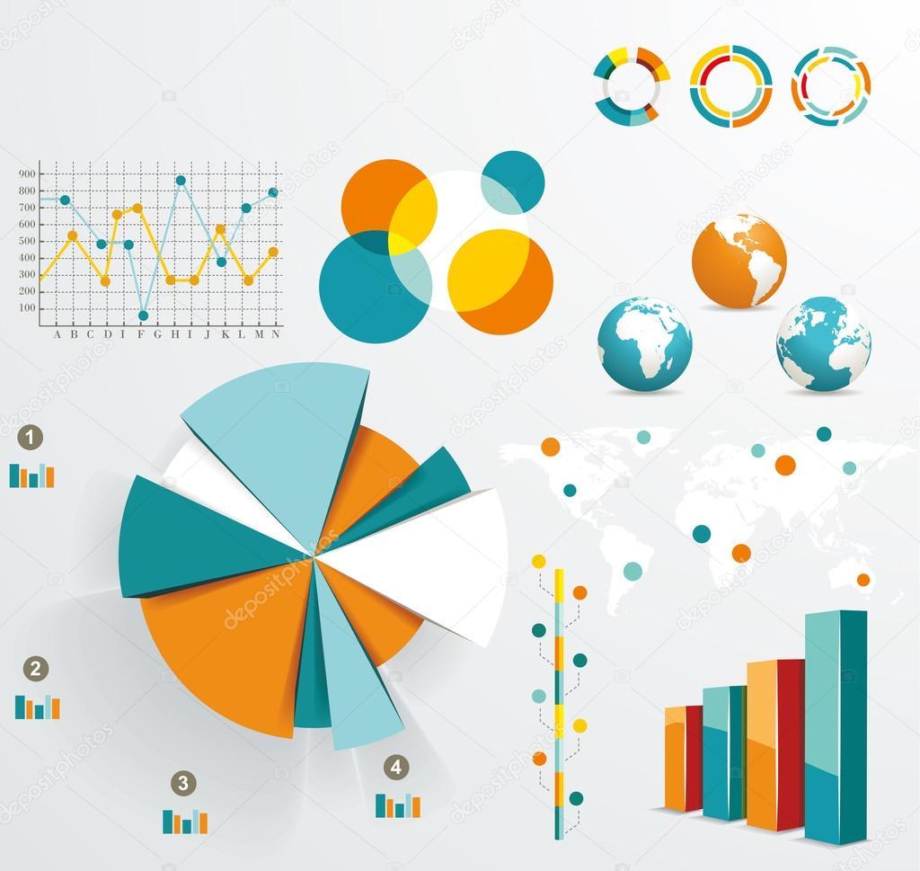 世界地图和信息图形