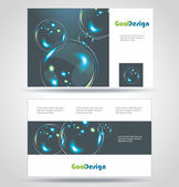 Blue Modern Business-Card Set. EPS10 Vector Design — Stock Photo