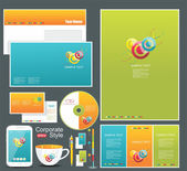 Corporate identity templates. — Stockfoto