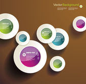 Eps10 Vector Abstract Circles infographics — Stock Vector