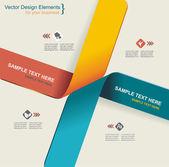 Modern origami style options banner. Vector illustration. — Stock Vector